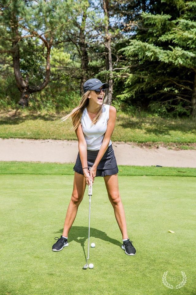 golfer enjoying golf